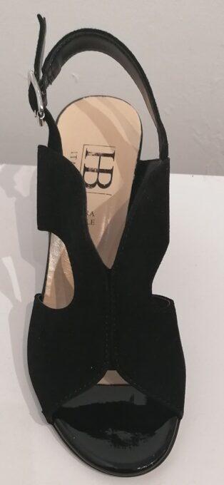 HB Italia – Asia Suede Sling Back Shoe – Black