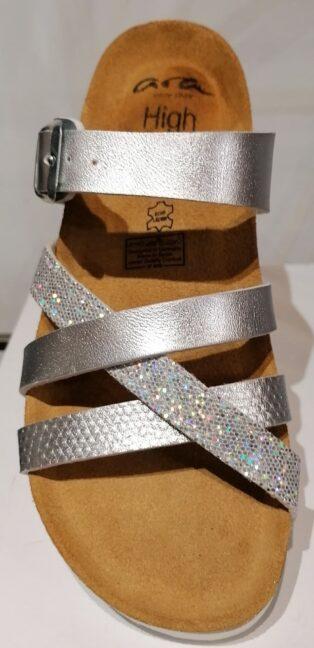 Ara – Glitter Laminado Mule – Silver