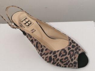 HB Italia – Austria Leopard Sling Back Shoe – Beige
