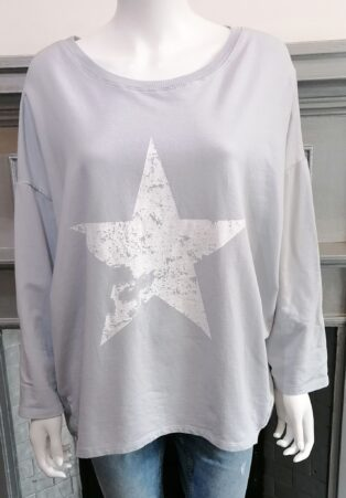Diverse – Harbour Star Sweat Top – Silver Grey
