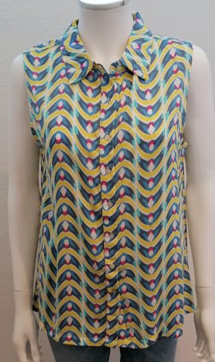 Adini – Sonia Blouse – Turquoise Print