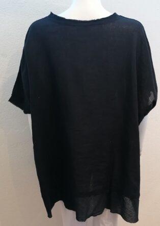 Diverse – Ina 3 Button Linen Tunic – Black