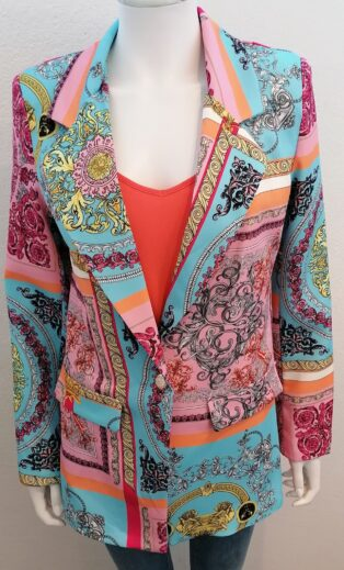Made in Italy – Italian Print Blazer – Multi Print