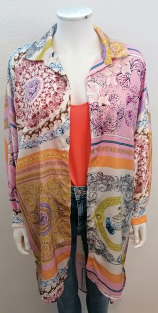 Made In Italy – Venetian Inspired Blouse – Pink Multi
